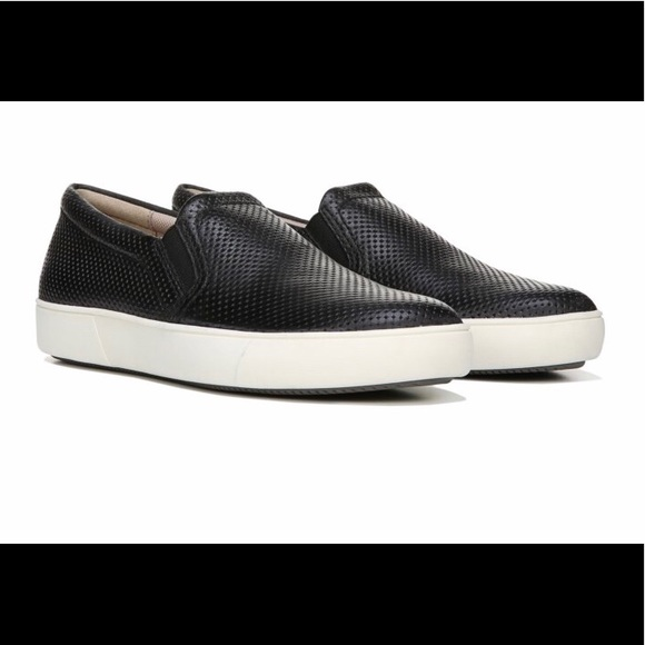 Naturalized Marianne black leather slide on shoe